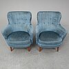 Carl malmsten,  a pair of 'samsas' easy chair.