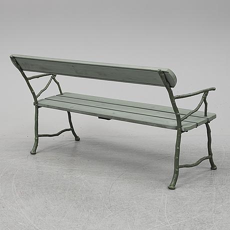 A ca 20th century bolinder garden sofa.