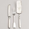Leopold michelsen, a silver cake server and a knife and fork, tallinn 1879-81.