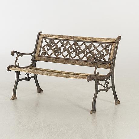 An 21st century garden bench.