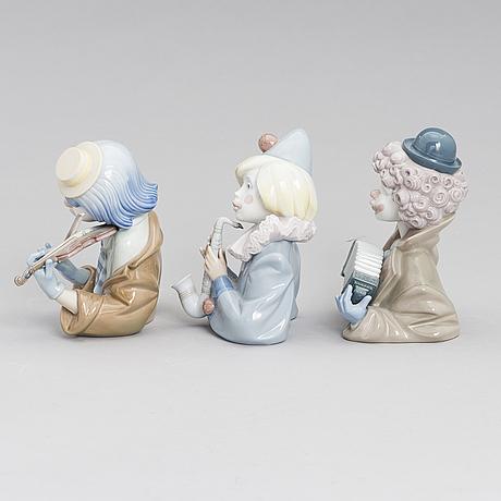 Figuriner, 3 st, porslin, lladró, spanien 1988.