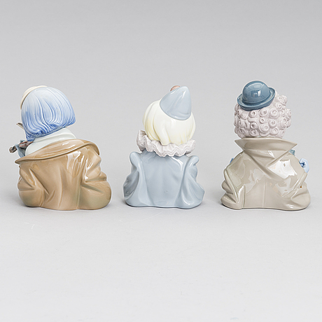 Three lladró porcelain figurines, marked 1988.