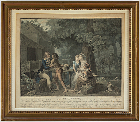 Aquatints in colour, 2, by  charles melchior descourtis (1753-1820).