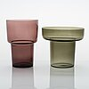 Lisa johansson-pape, a set of seven 1960's vases for iittala.