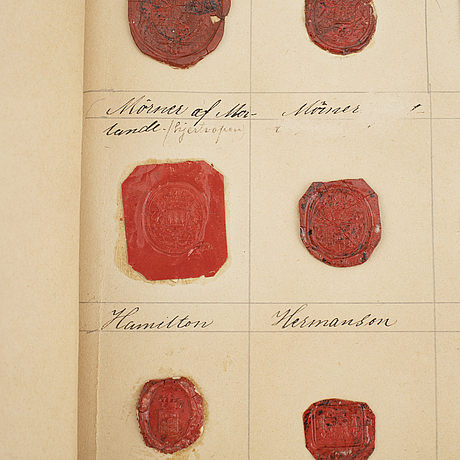 Collection of royal and noble laquer seals, 19th century.