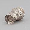 A swedish 18th century parcel-gilt silver snuff box, mark possibly olof collander (falkenberg 1761-1794).