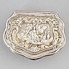 A swedish 18th century parcel-gilt silver snuff-box, unmarked.