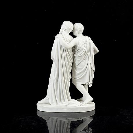 Bertel thorvaldsen, arter. a porcelain sculpture, bing & gröndahl, denmark.