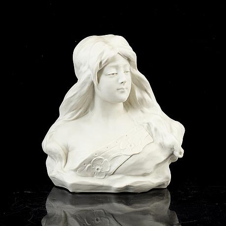 Gustavsberg, an art nouveau porcelain sculpture, 1912.