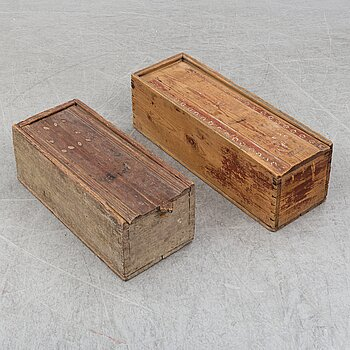 Two 19/20th century wood boxes.