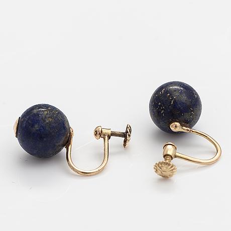 Korvakorupari, 14k kultaa, lapis lazulia.