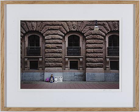 Adam karls johansson, archival pigment print. signed on label on verso.