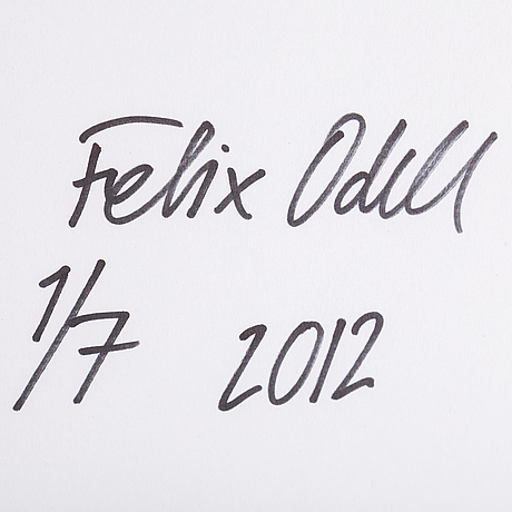 Felix odell, c-print. signed and dated 2012 on verso. numbered 1/7.