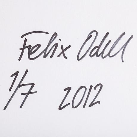 Felix odell, c-print. signerad och daterad 2012 a tergo. numrerad 1/7.