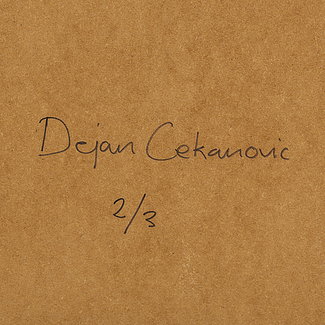 Dejan cekanovic, archiuval pigment print. signed and numbered 2/3 on verso.