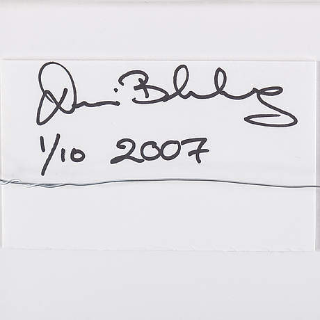Dennis blomberg, c-print. signed and dated 2007. numbered 1/10.