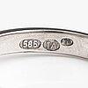 A 14k white gold ring with a brilliant cut diamond, 0.71 ct. toivo konstantin alenius, vasa 2020. with gia certificate.