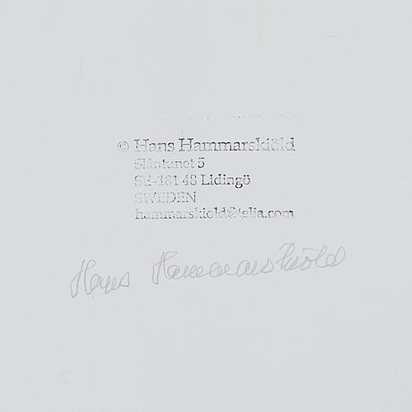 Hans hammarskiÖld, photograph, signed and with copyright stamp on verso. printed in 2003.
