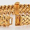 "An 18k gold tiffany bracelet ""vannerie""."