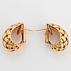 """Tiffany ett par örhängen 18k guld """"vannerie""""."""
