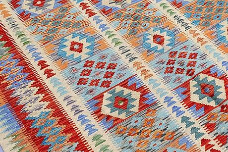 A carpet, kelim, ca 244 x 175 cm.