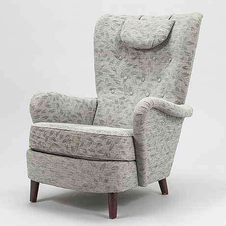 """Nojatuoli, malli """"lady"""" 2303 asko,1900-luvun puoliväli."""
