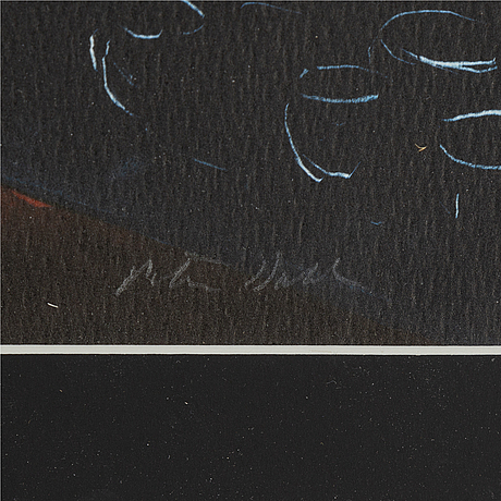 Peter dahl, lithograph in colours, signed 105/375.