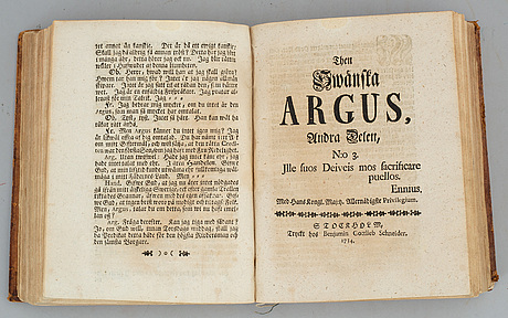 Then swänska argus, 1732-4.