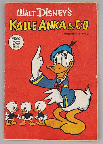 Kalle anka, nr 1, 1948.