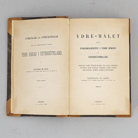 Rääf om ydre härad i Östergötland, ovanlig komplett (3 vol).