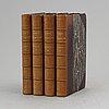 Klassisk stockholmstopografi 1800-01 i tidiga hedbergband (4 vol).
