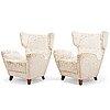 A pair of mid 1960's 'sebastian' armchairs for lepokalusto.