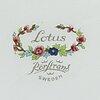 """Servis, 50 delar, flintgods. """"lotus"""", rörstrand, 1900-talets andra hälft."""