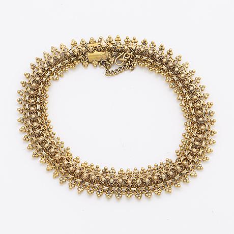 Bracelet 14k gold, 16,8 g, approx 19 x 1 cm.