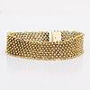 Bracelet 14k gold, 38,3 g, approx 18 x 2 cm.