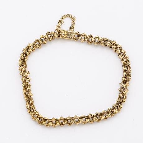 Bracelet 14k gold, 12,4 g, approx 17 x 0,5 cm.