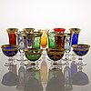 A set of footed murano glasses and bowls, italy, around mid-20th century.