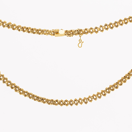 Gold necklace 14k gold, 28,0 g, approx 44 x 0,5 cm.