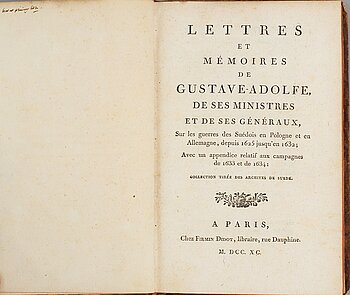 Om Gustav II Adolf, 1790.
