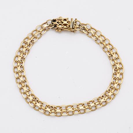 Bracelet 18k gold, 7 5 g, approx 17 x 0,5 cm, swedish hallmarks.