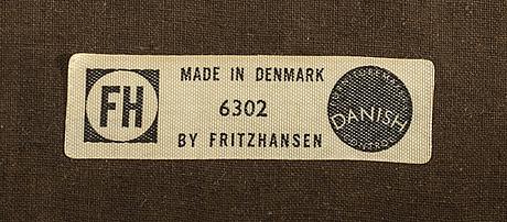 Aksel bender madsen/ejnar larsen,  karmstolar modell 6302  ett par för fritz hansen 1950/55.