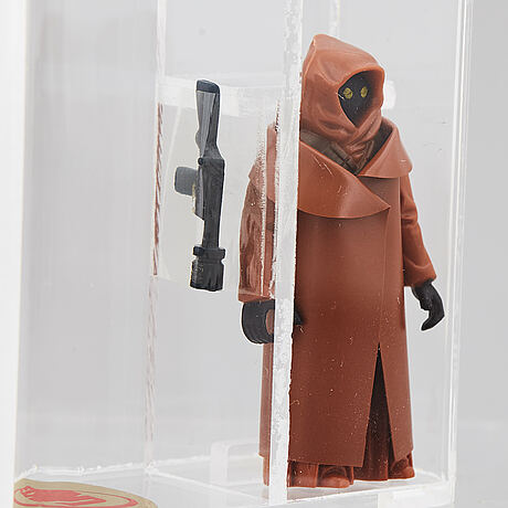 Star wars, jawa vinyl cape, g.m.f.g.i, hong kong, uk graders 90 % gold, 1977.