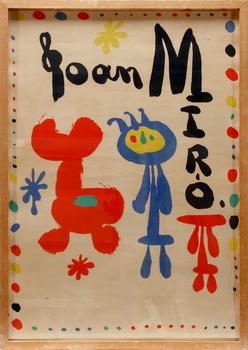 JOAN MIRÓ, efter, litografisk affisch, Maeght, 1948.