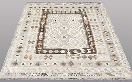 A rug, kilim, ca 200 x 148 cm.