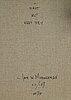Jan w. morthenson, olja på duk, signerad och daterad xii/-87 á tergo.