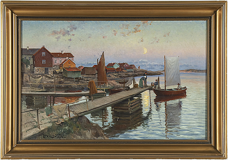 Johan ericson, oil on canvas, signed joh. ericson and dated 1916.