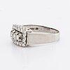 Ring 18k whitegold brilliant-cut diamonds 0,64 ct inscribed , g dahlgren & co malmö 1975.