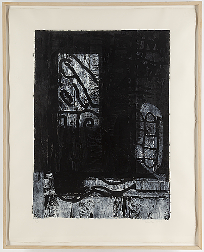 John walker, silkscreen and woodcut, 1989, signed and numbered 10/35.