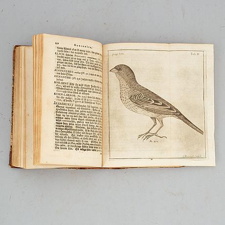 Linné om skåne, 1751, med graverad karta och planscher.