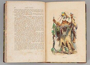 """""""Nord-Amerikas indianer"""" (1848), med 23 planscher."""